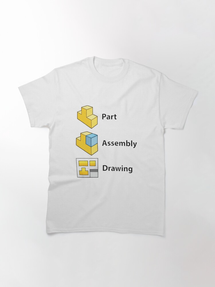 Alternate view of 3D Cad/Cam/Cae Solid Works | White Version Classic T-Shirt