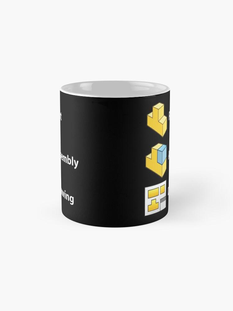 Alternate view of 3D Cad/Cam/Cae Solid Works   Black Version Mug
