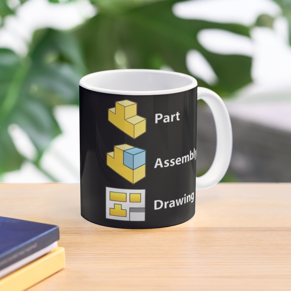 3D Cad/Cam/Cae Solid Works   Black Version Mug