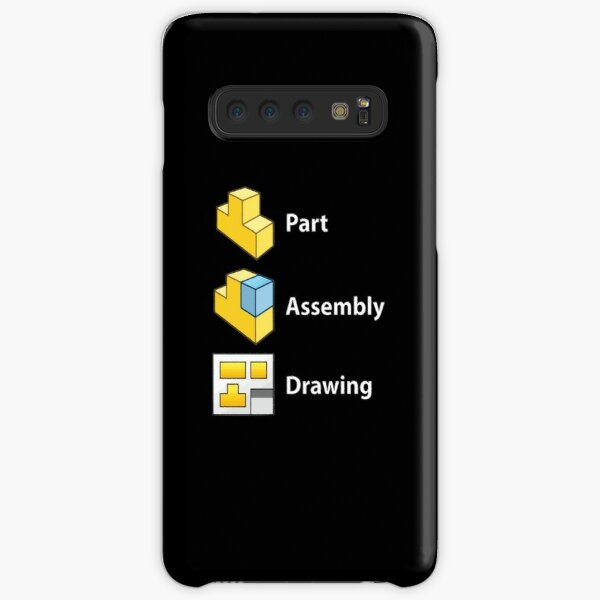 3D Cad/Cam/Cae Solid Works   Black Version Samsung Galaxy Snap Case