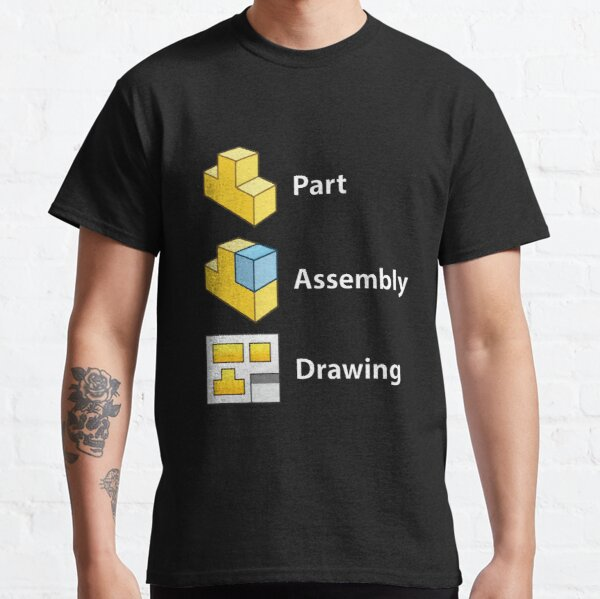 3D Cad/Cam/Cae Solid Works | Black Version Classic T-Shirt