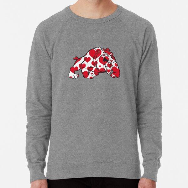 Bulldog Filled with Hearts Lightweight Sweatshirt