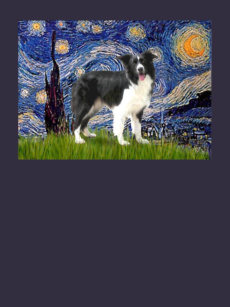 Starry Night - Border Collie (stand) by JeanBFitzgerald