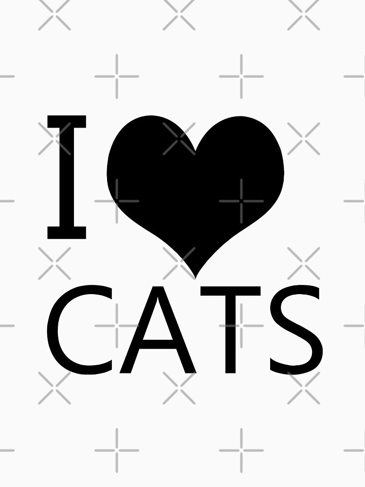 I Heart Cats, I Love Cats by tribbledesign
