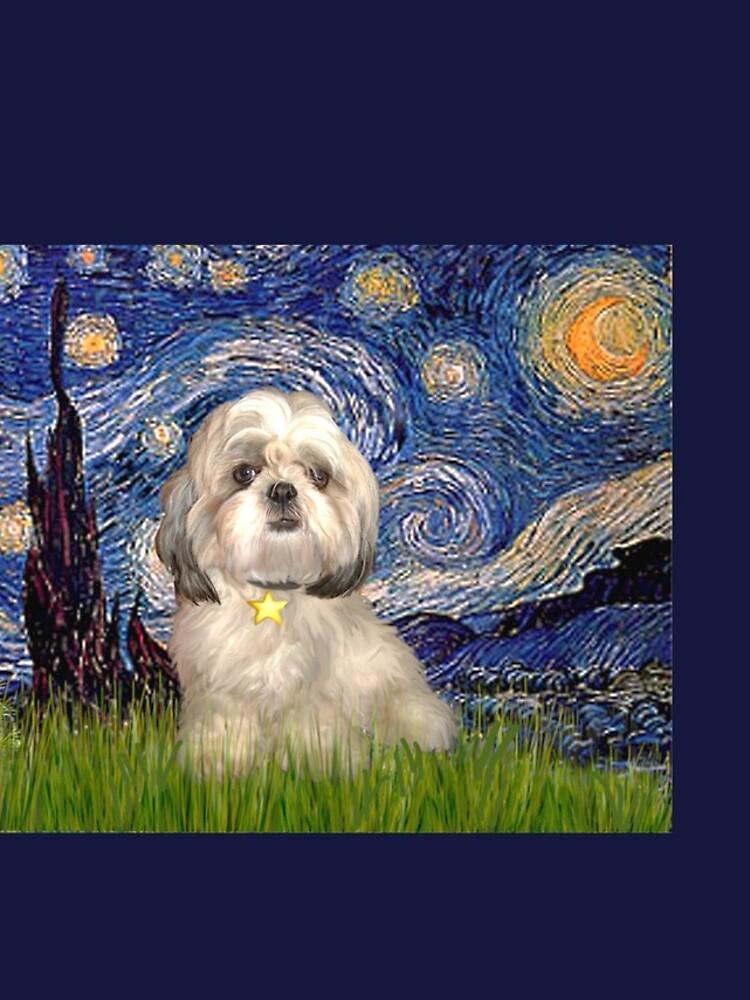 Starry Night - Shih Tzu (Y) by JeanBFitzgerald