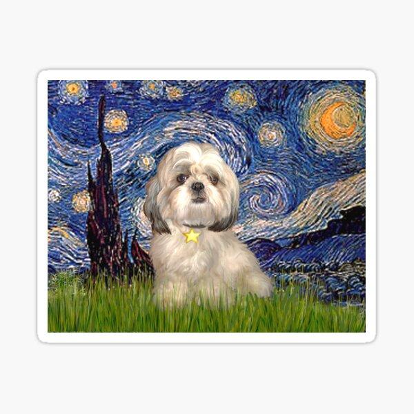 Starry Night - Shih Tzu (Y) Sticker