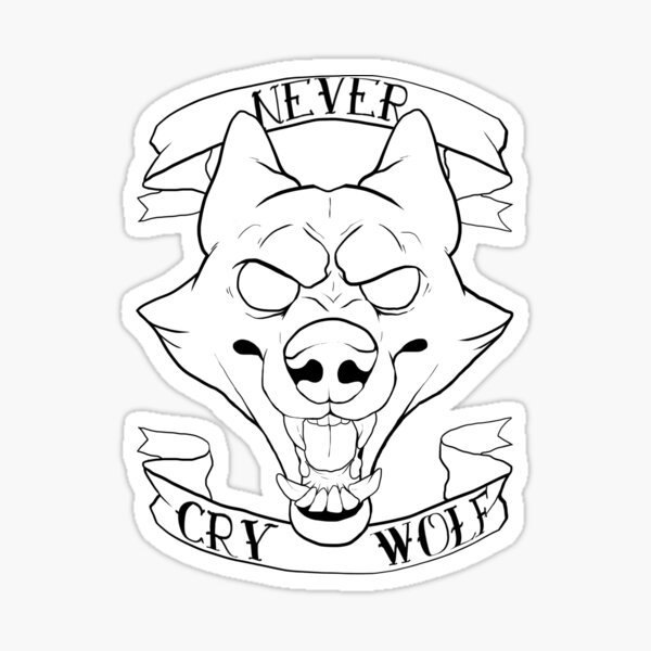NEVER CRY WOLF Sticker