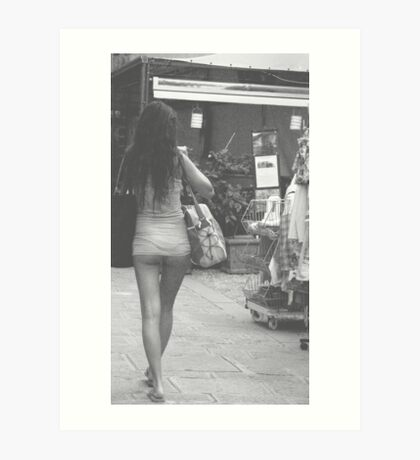 In Italy, our skirts get shorter in the summertime.  Art Print