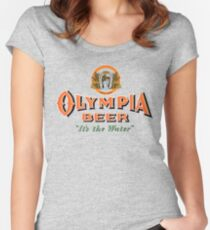 OLYMPIA Tailliertes Rundhals-Shirt