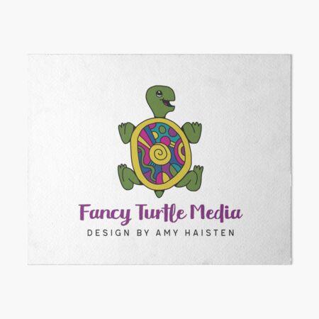 Fancy Turtle Media Logo Art Board Print