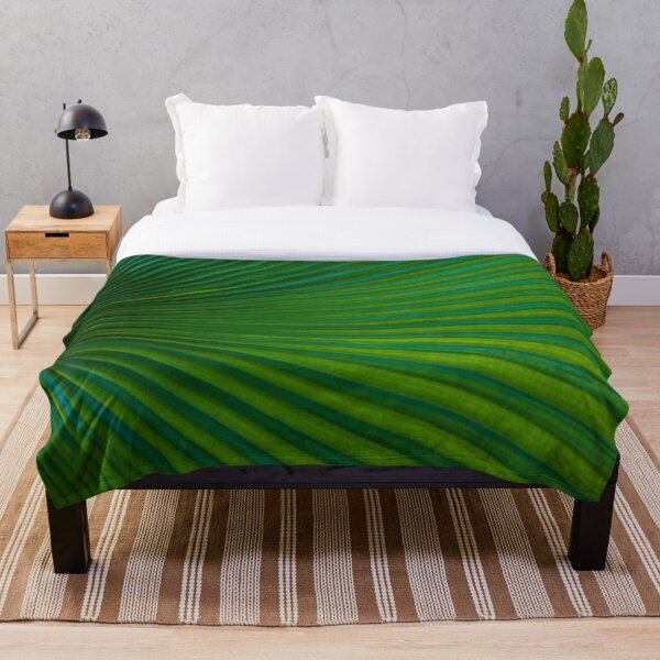 Tropical Leaf  Throw Blanket