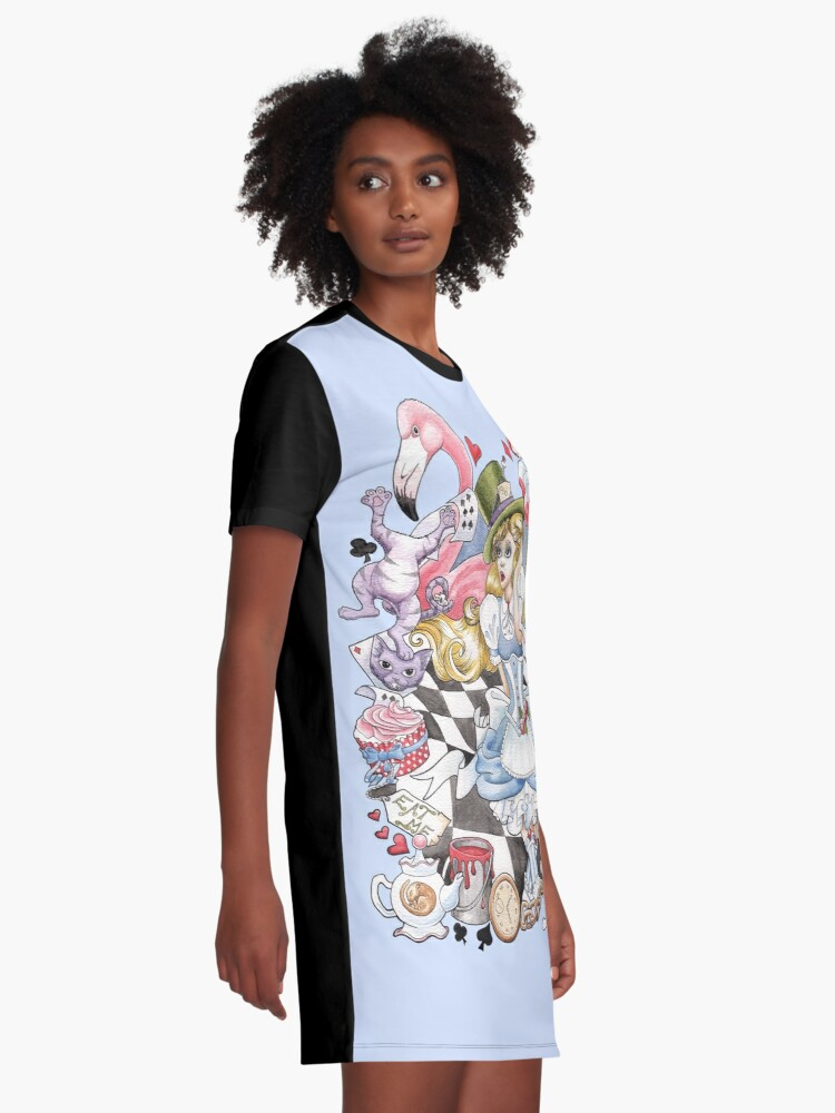 Alternate view of Alice In Wonderland Graphic T-Shirt Dress