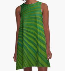 Tropical Leaf  A-Line Dress
