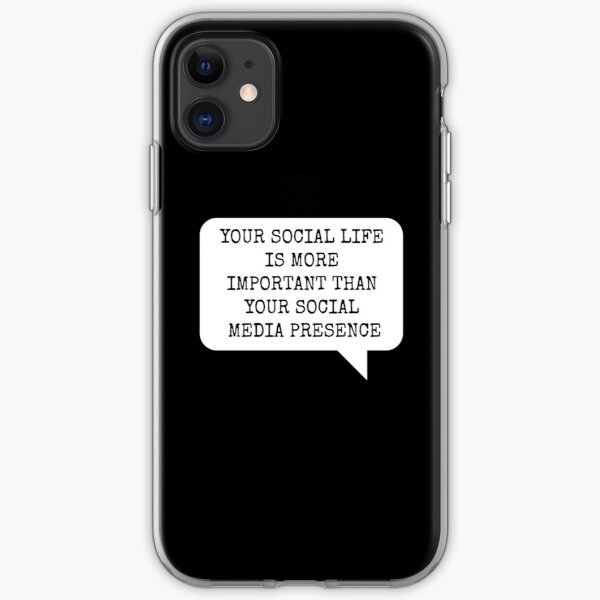 SOCIAL MEDIA AFFECTS YOUR MIND PHONE CASE iPhone Soft Case