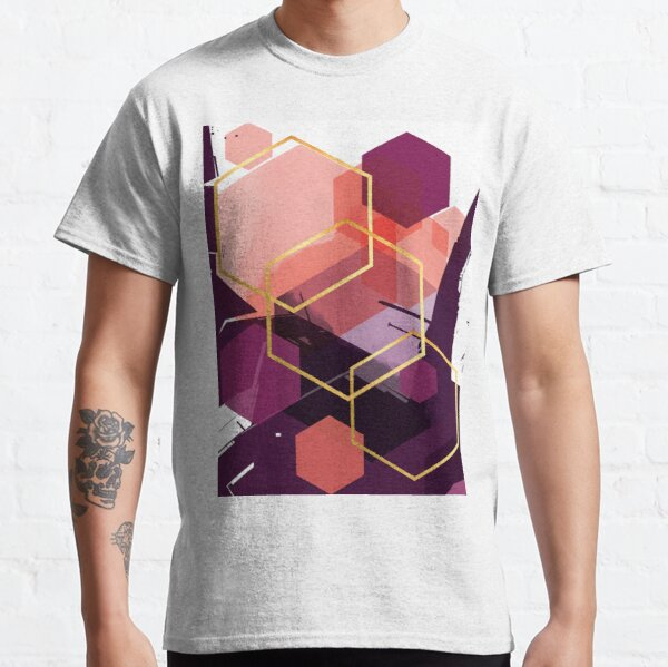 Abstract Landscape in Magenta, Coral and Plum Classic T-Shirt