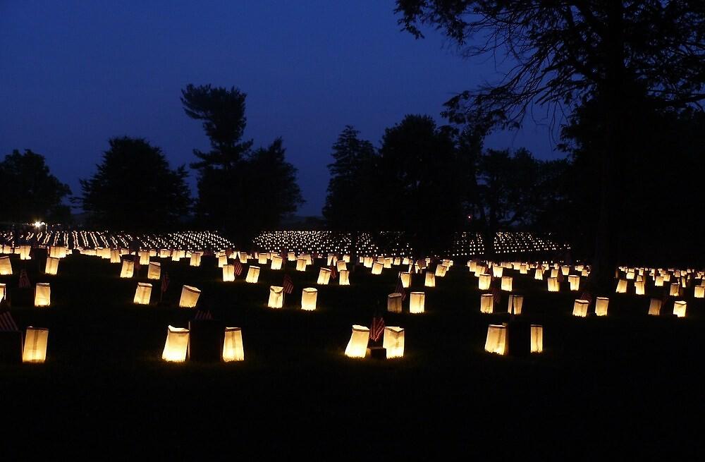 Memorial Day luminaria by Sarah J. Wheeler