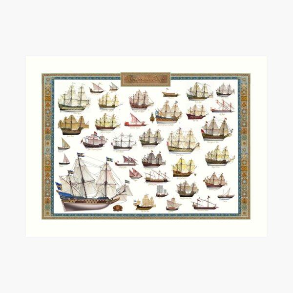 Poster of Renaissance Ships Art Print