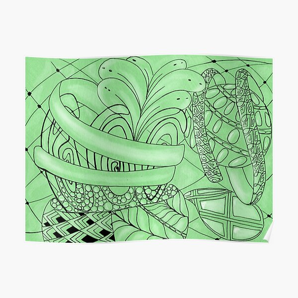 Zentangle plant Poster