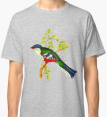 Illustration of The Cuban trogon or tocororo Classic T-Shirt