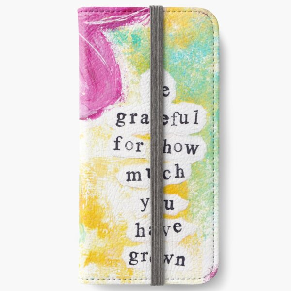 GRATEFUL FOR GROWTH iPhone Wallet
