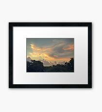 Playa del Carmen Sunrise (Pictures of Mexico) Framed Print