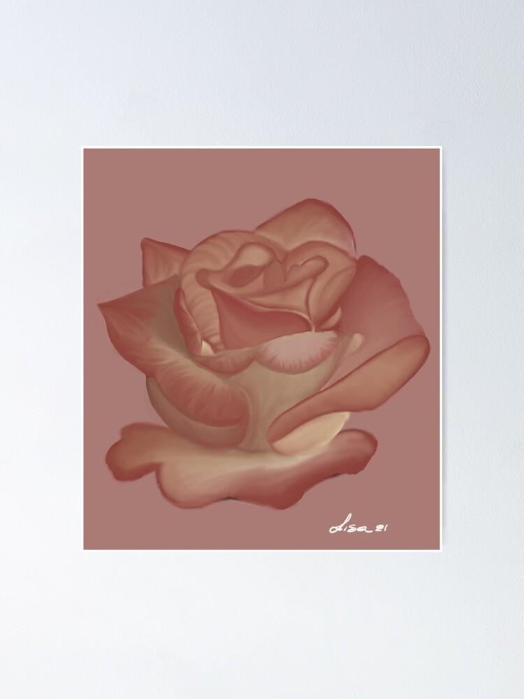 Alternate view of Pink Rose Poster