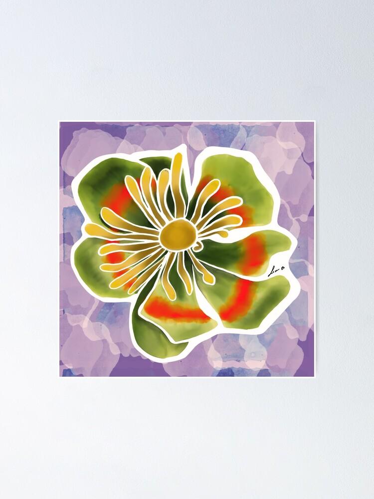 Alternate view of Tulip tree flower Poster