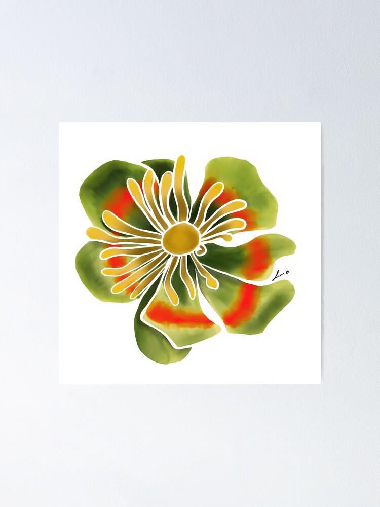 Alternate view of Fantasy Flower  white Poster