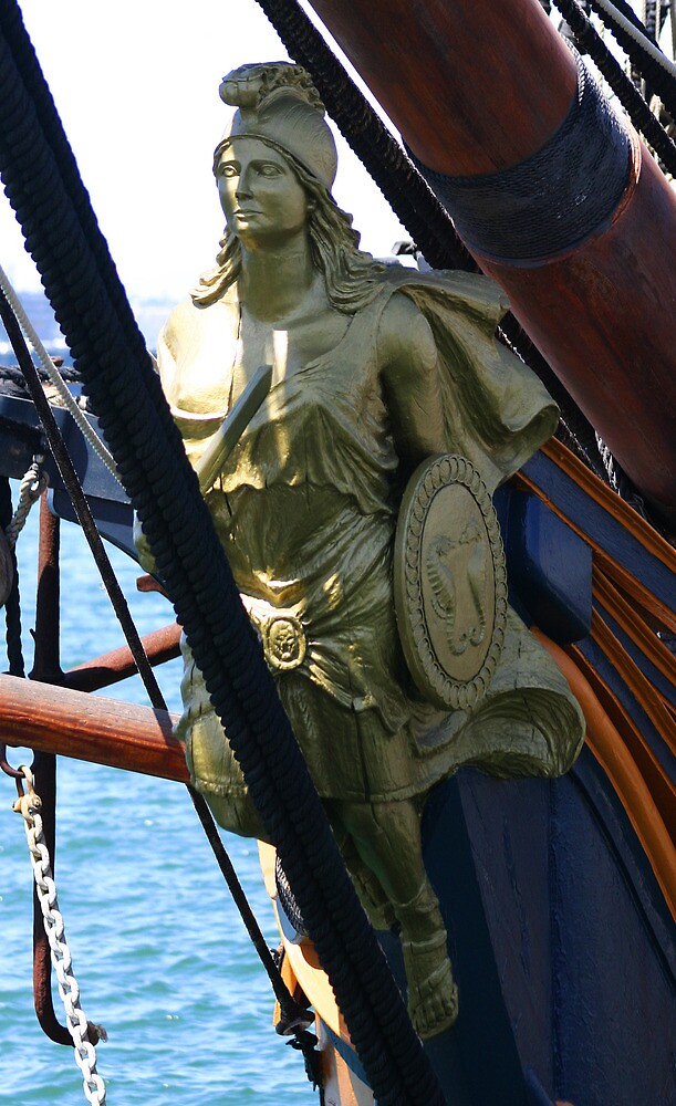 FIGUREHEAD HMS SURPRISE by fsmitchellphoto