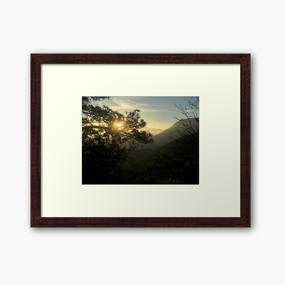 Sunrise in Monterrey (Pictures of Mexico) Framed Art Print