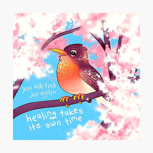 """""""You Will Find Joy Again"""" Spring Robin Photographic Print"""