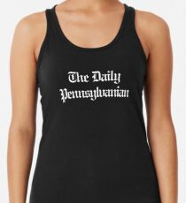 The DP Multi-line White Wordmark Racerback Tank Top