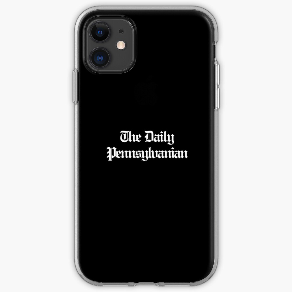 The DP Multi-line White Wordmark iPhone Soft Case