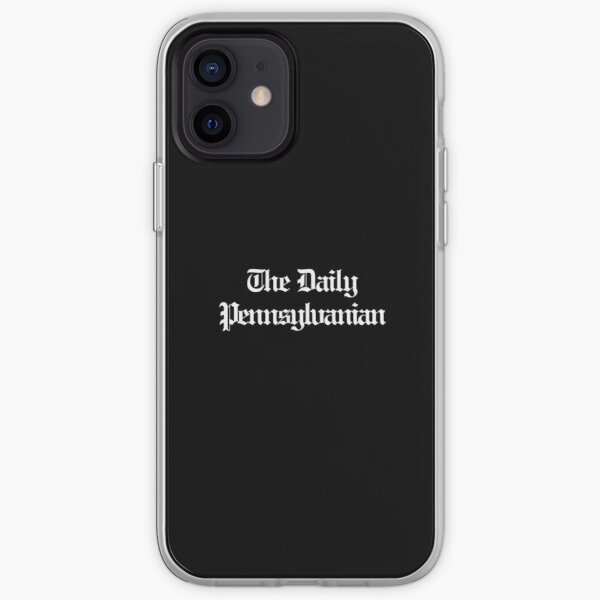 The DP Multi-line White Wordmark iPhone Soft Case