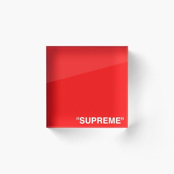 Supreme X Off-White LOGO WHITE / RED / BLACK Acrylic Block