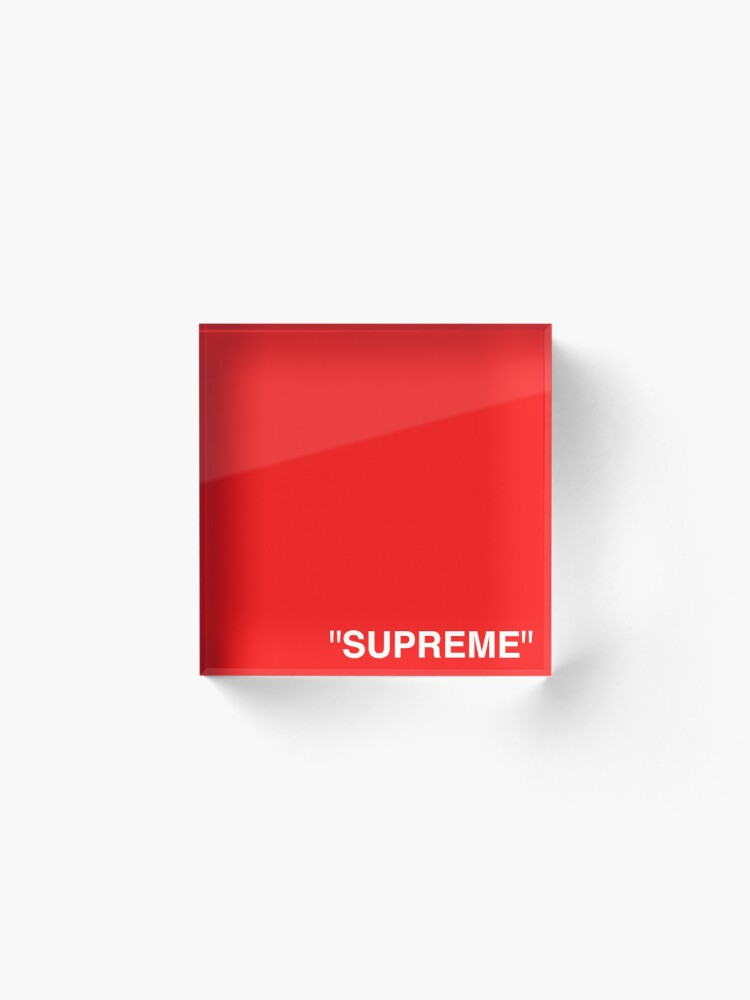 Alternate view of Supreme X Off-White LOGO WHITE / RED / BLACK Acrylic Block
