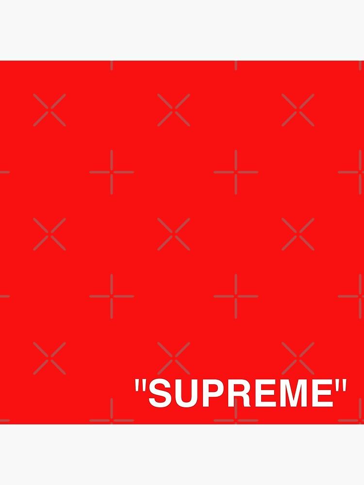 Supreme X Off-White LOGO WHITE / RED / BLACK by Kxwee