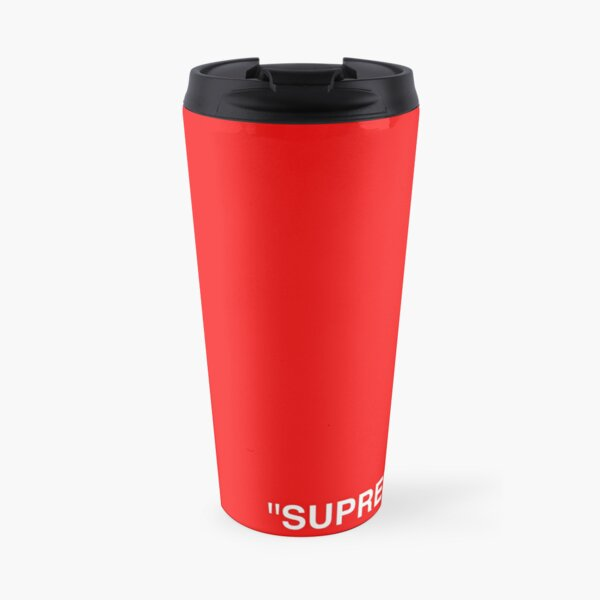 Supreme X Off-White LOGO WHITE / RED / BLACK Travel Mug