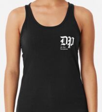 The DP Square White Logo Racerback Tank Top