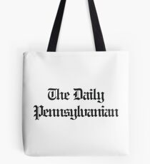 The DP Multi-Line Black Wordmark Tote Bag