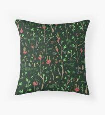 Woodland Floor Throw Pillow