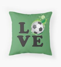 Love Football Throw Pillow