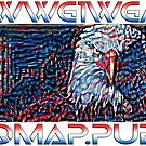 Where We Go Eagle We Go Qmap by MoustacheHouseQ