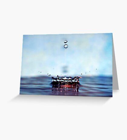 blue splash Greeting Card