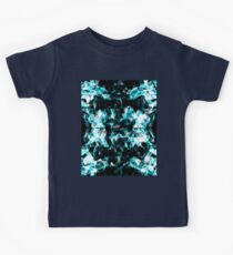 Electrifying blue sparkly triangle flames Kids Clothes