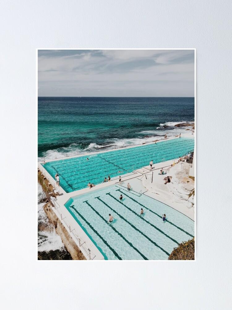 Alternate view of Bondi Icebergs, Sydney Australia Poster