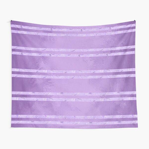 Purple Foil Stripes  Tapestry