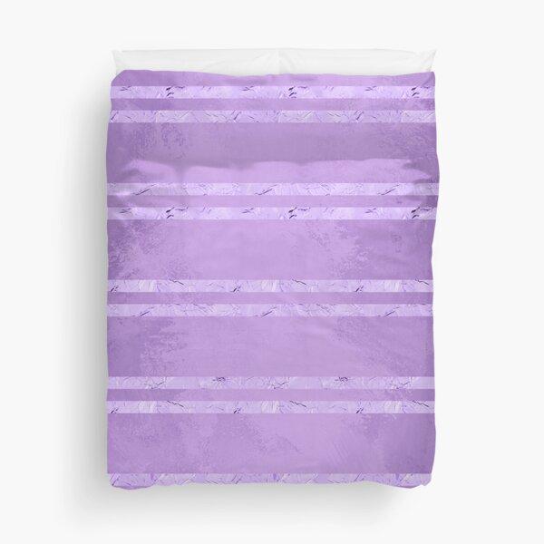 Purple Foil Stripes  Duvet Cover
