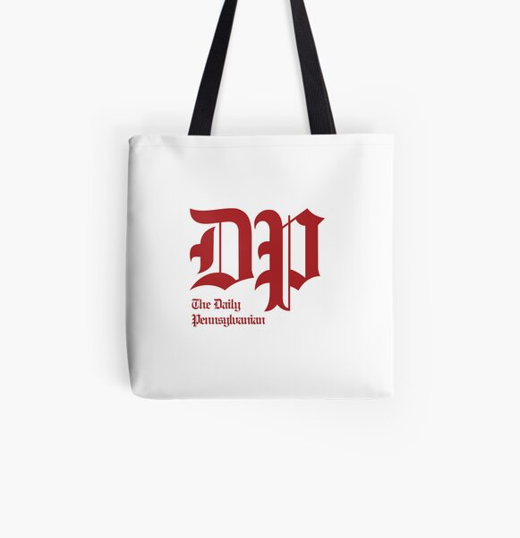 The DP Square Red Logo All Over Print Tote Bag
