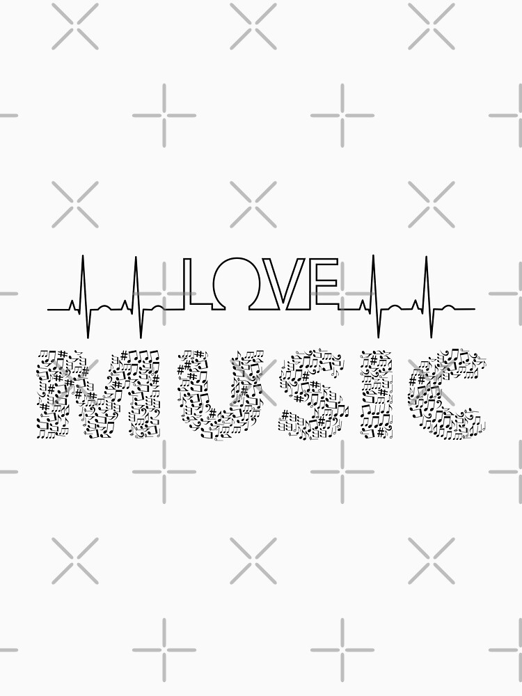 Love Music Musical notes Heartbeat by tribbledesign